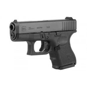 "Glock 26 9mm 10+1 3.46"" Pistol in Fired Case/Matte (Gen 4) - UG2650201"