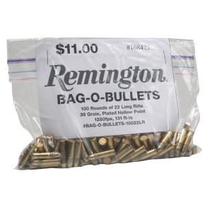 Remington Golden Bullet .22 Long Rifle Copper Plated Hollow Point, 36 Grain (100 Rounds) - 10022LR