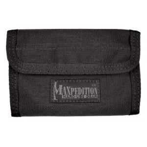 "Maxpedition Spartan Wallet, 5.5""x3.5""x0.5"", Black 0229b"