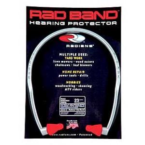 Radians Rad Band Ear Plug, Red , Nrr 23 Rb1150