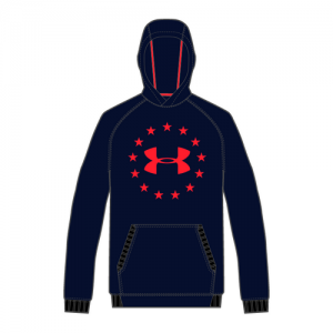 Under Armour Freedom Men's Pullover Hoodie in Academy - Large