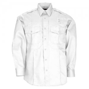 5.11 Tactical PDU Class B Men's Long Sleeve Uniform Shirt in White - Small