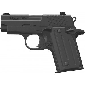 "Sig Sauer P238 Micro-Compact .380 ACP 6+1 2.7"" Pistol in Black Nitron (SIGLITE Night Sights) - 238-380-BSS"