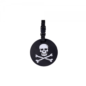 5ive Star Gear Jolly Ranger Stainproof Skull Luggage Tag in Black/White - 6673000