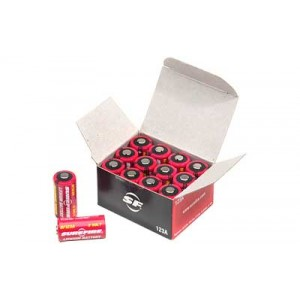 Surefire Battery, Cr123a Lithium,12 Pack, Red Sf12-bb