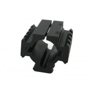 "Pachmayr Gun Works Inc TacStar Shotgun Rail Mount Short 1.8""  Black Finish 1081100"