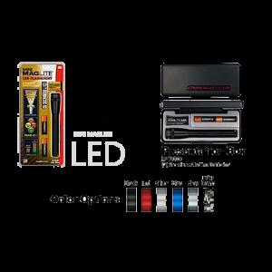 "MagLite Mini Flashlight w/Holster in Red (6.61"") - SP2203H"