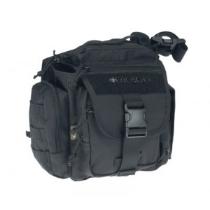 Drago Gear Officer Shoulder Bag in Black 840D Nylon - 15302BL