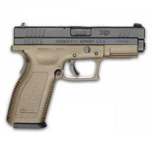 """Springfield XD .40 S&W 10+1 5"""" Pistol in Black Slide/Dark Earth Frame - XD9132HCSP06"""