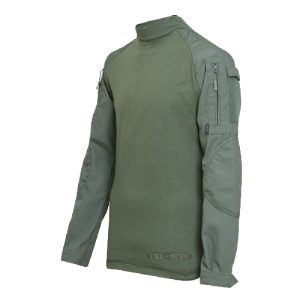 Tru Spec Combat Shirt Men's Long Sleeve Shirt in Olive Drab/Olive Drab - Medium