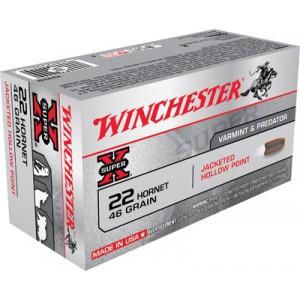 Winchester Super-X .22 Hornet Hollow Point, 46 Grain (50 Rounds) - X22H2
