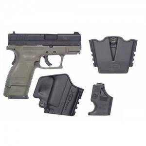 "Springfield XD Sub-Compact .40 S&W 12+1 3"" Pistol in Olive Drab/Black - XD9812HCSP06"