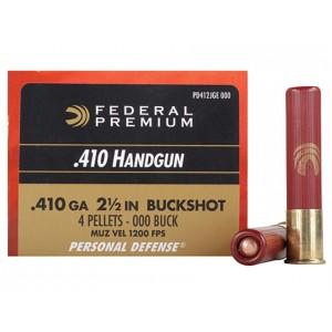 "Federal Cartridge Premium Personal Defense .410 Gauge (2.5"") 4 Shot Lead (20-Rounds) - PD412JGE2"