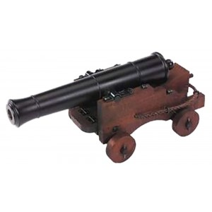 """Traditions CN8052 Old Ironsides Mini Cannon 69 Cal 12.5"""" Brl Fuse Ignition Blued"""
