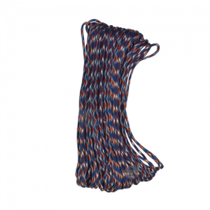 Red/White/Blue 100' 7-Strand 550 Paracord #550 Commercial 7-Strand