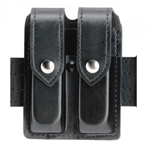 Boston Leather Fully Lined Garrison Belt in Black Plain