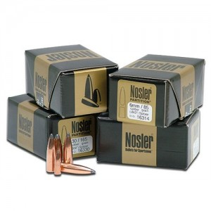 Nosler Partition Spitzer 6.5MM Cal 100 Grain 50/Box 16319