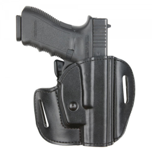Open Top Concealment Belt Slide Holster Finish: Plain Black Gun Fit: H&K USP 9C (3.8  BBL) Hand: Left - 537-391-62