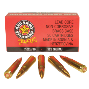 Red Army Standard by CIA 7.62X39 Full Metal Jacket, 123 Grain (30 Rounds) - AM1930