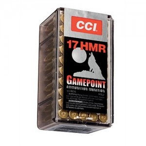 CCI 17 HMR 20 Grain Jacketed Hollow Point, 50 Round Box, 0052