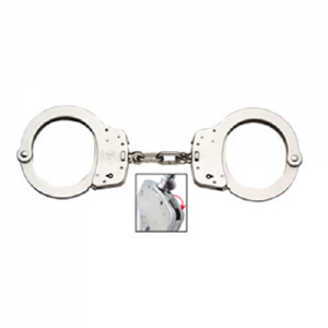 M&P 100 Chain Lever Lock Nickel Handcuffs. M&P lever lock handcuffs double lock, but with finger activated double locks. The double locks are activated in a way that they can not be accidentally activated too easily. Smith & Wesson has solved the problem