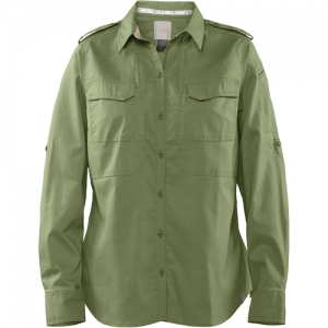 5.11 Tactical Spitfire Shooting Shirt Women's Long Sleeve Uniform Shirt in Mosstone - Medium