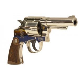 "Smith & Wesson 58 .41 Remington Magnum 6-Shot 4"" Revolver in Nickel - 150501"