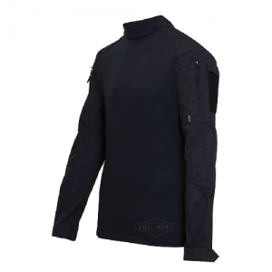Tru Spec Combat Shirt Men's Long Sleeve Shirt in Black - Large