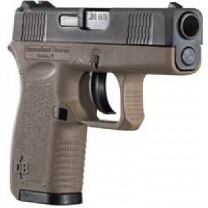 "Diamondback DB380 .380 ACP 6+1 2.8"" Pistol in Black Slide/Dark Earth Frame (Micro-Compact) - DB380FDE"