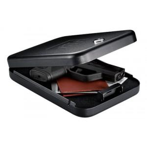 "Gunvault Nano Vault Gun Safe 9.5"" x 6.5"" x 1.75"" Key Lock Black Finish NV200"