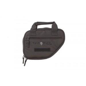 "Allen Battalion Single Pistol Case, Black Polyester Fabric, 9""x7"", Neoprene Internal Gun Pocket, Inteernal Magazine Straps, External Accessory Pocket, Lockable Zippers 10940"