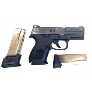 """FN Herstal FNS-9 Compact 9mm 12+1 3.57"""" Pistol in Black (No Manual Safety) - 66719"""