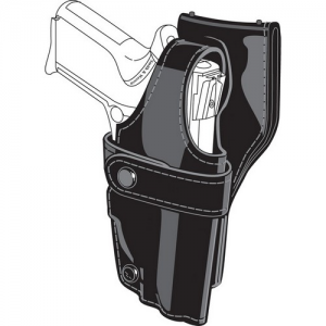 "Safariland Model 0705 SSIII Low-Ride Right-Hand Belt Holster for Beretta 92 in Black Basketweave (5"") - 0705-73-181"