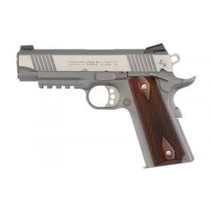 """Colt Rail Gun .45 ACP 8+1 4.25"""" Pistol in Stainless - O4012RG"""