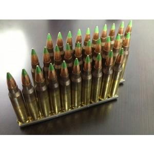 Federal Cartridge .223 Remington/5.56 NATO Full Metal Jacket Green Tip, 62 Grain (30 Rounds) - M855-30