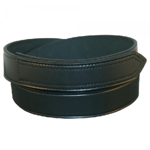 Boston Leather Velcro Tip Garrison Belt in Black Plain - 44