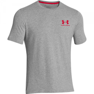 Under Armour Charged Cotton Sportstyle Men's T-Shirt in True Gray Heather - Small