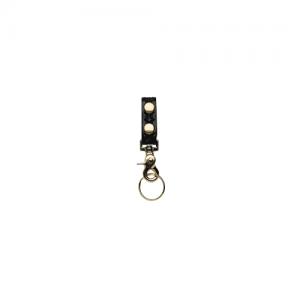 Boston Leather Belt Keeper Key Ring in Black - 5436-3