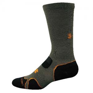 UA Hitch Lite Cushion Boot Socks Color: Sage/Blast Size: Medium