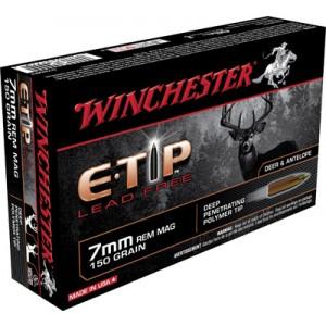 Winchester Supreme E Tip 7mm Remington Magnum E-Tip Lead-Free, 150 Grain (20 Rounds) - S7RMET