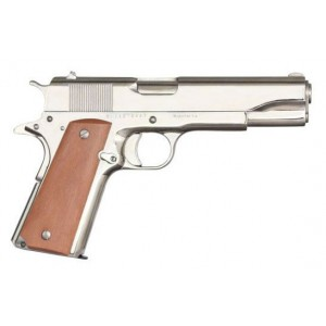 "Rock Island Armory 1911-A1 GI .38 Super 9+1 5"" 1911 in Polished Nickel - 51814"