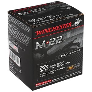 Winchester .22 Long Rifle Lead Round Nose, 40 Grain (500 Rounds) - S22LRT500BOX