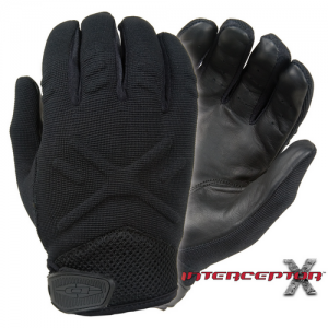 Interceptor X - Medium Weight Duty Gloves Color: Black Size: Medium