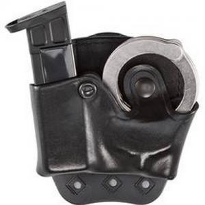 Aker Leather D.M.S. Combo Magazine and Handcuff Case Magazine/Handcuff Holder in Black - A519BPRU-2