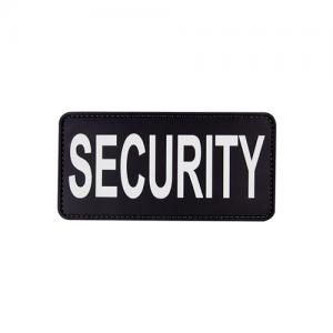 MORALE PATCH, SECURITY BLK W/WHT LETTERS, 6  x 3