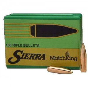 Sierra MatchKing Boat Tail Hollow Point 22 Cal 52 Grain 100/Box 1410