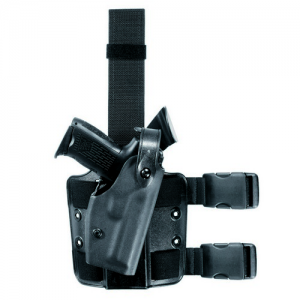 6004 SLS Tactical Holster Color: Black Gun Fit: H&K HK45 (Cocked and Locked) with LasTac2 (4.53  bbl) Hand: Right Leg Strap: Double - 6004-3930-121