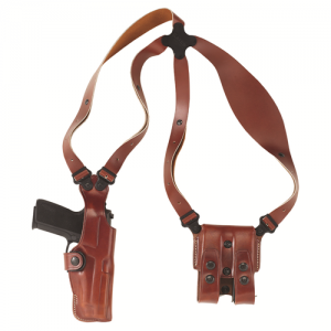 "Galco International VHS Ambidextrous-Hand Shoulder Holster for Smith & Wesson 27, 28 in Tan (6"") - VHS132"