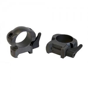 "Weaver 1"" Medium Leverlok Top Rings w/Gloss Black Finish 49328"