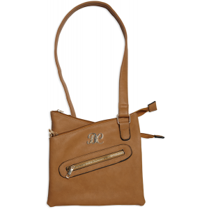 Bulldog Case Company Cross Body Purse Slashproof Shoulder Strap Cross Body Style Purse in Tan Smooth Leather Leather - BDP032